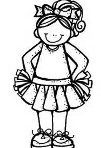 Cheer Clipart Black And White Silhouette Lib Clipground
