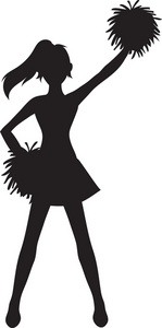 Cheerleader Clipart Silhouette.