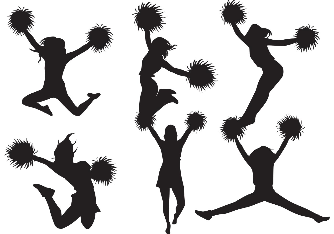 Cheerleader Free Vector Art.
