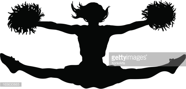 Cheerleader Silhouette, Cheerleader Silhouette Free Clipart.