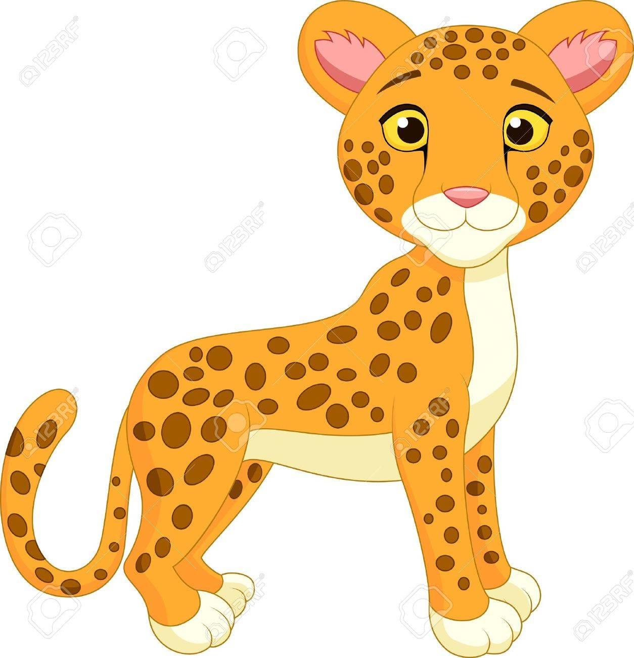 Cute cheetah cartoon.