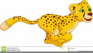 Running Cheetah Clipart Free.