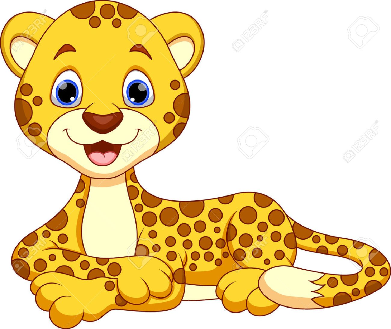 Cute cheetah cartoon.