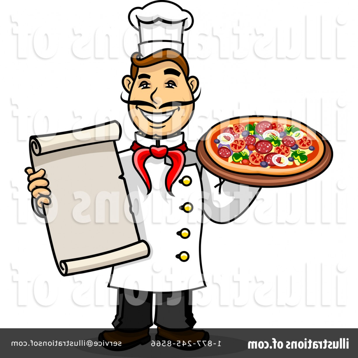 Royalty Free Chef Clipart Illustration.