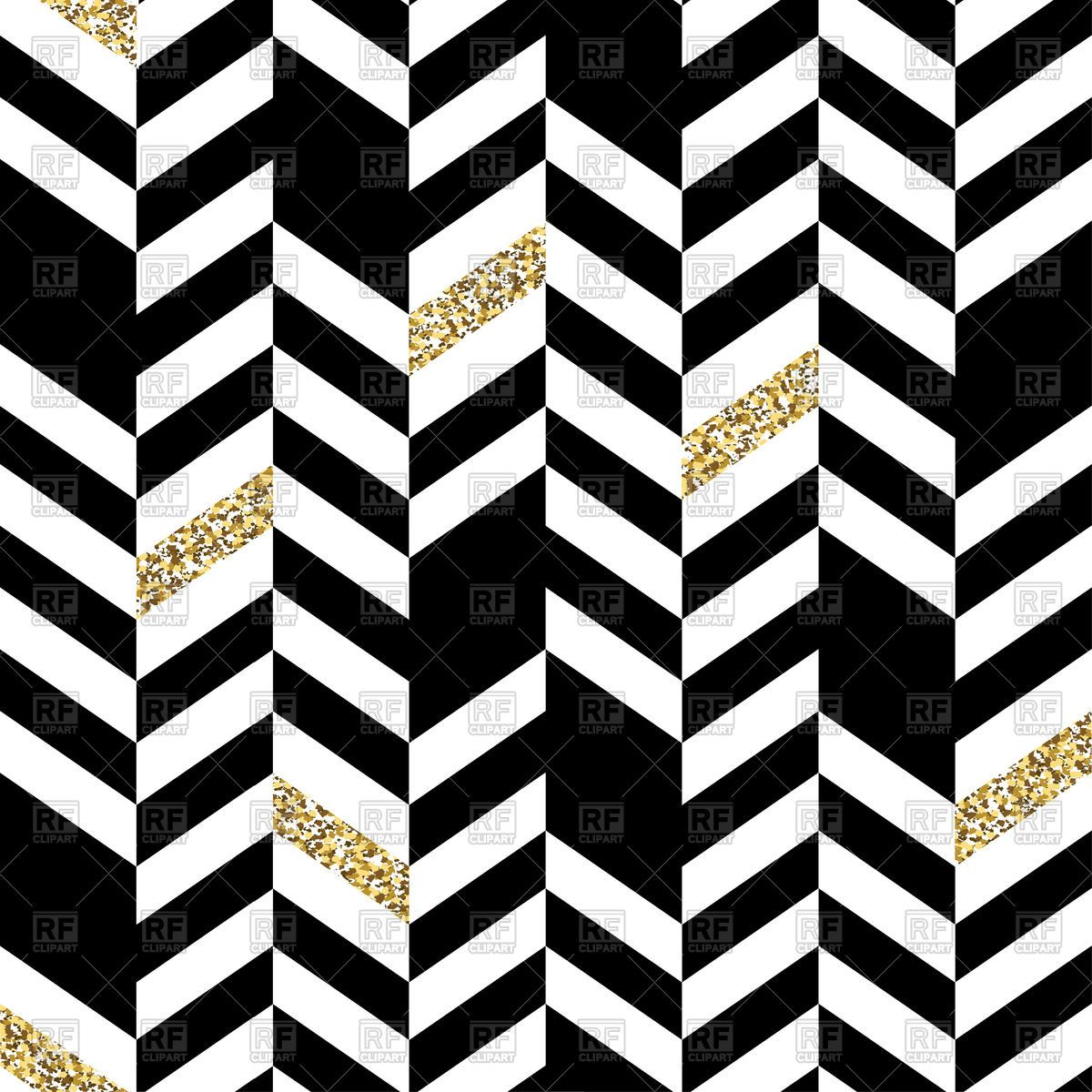 Seamless Chevron Pattern with Glittering Vector Image.