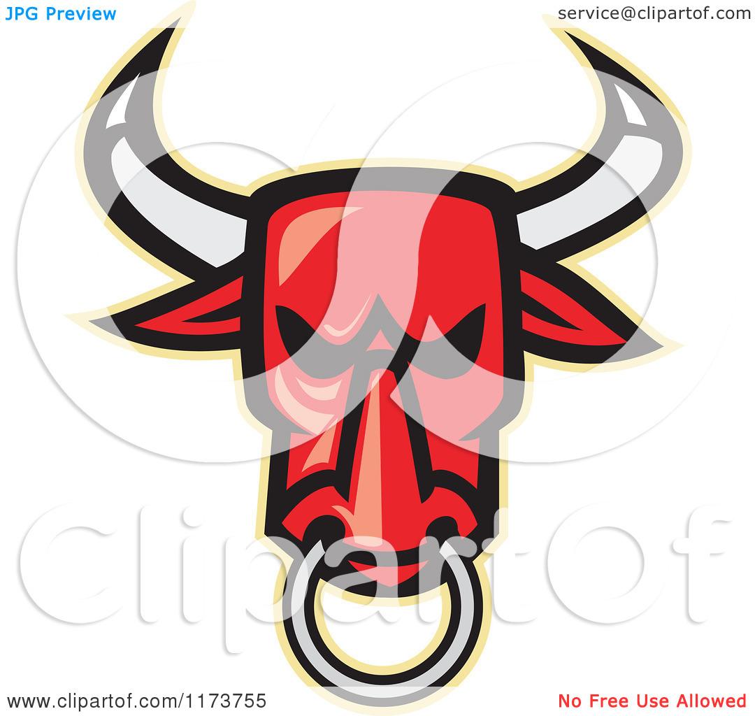 Free Clipart Bulls Head.