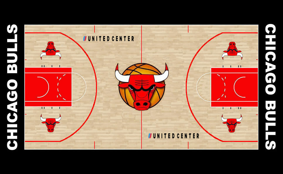 Chicago Bulls Basketball Clipart.