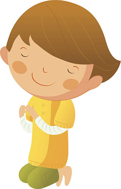 Children Praying Clipart Pictures Illustrations, Royalty.