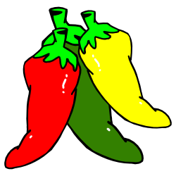 Three hot chili peppers clip art free borders and clip art image.