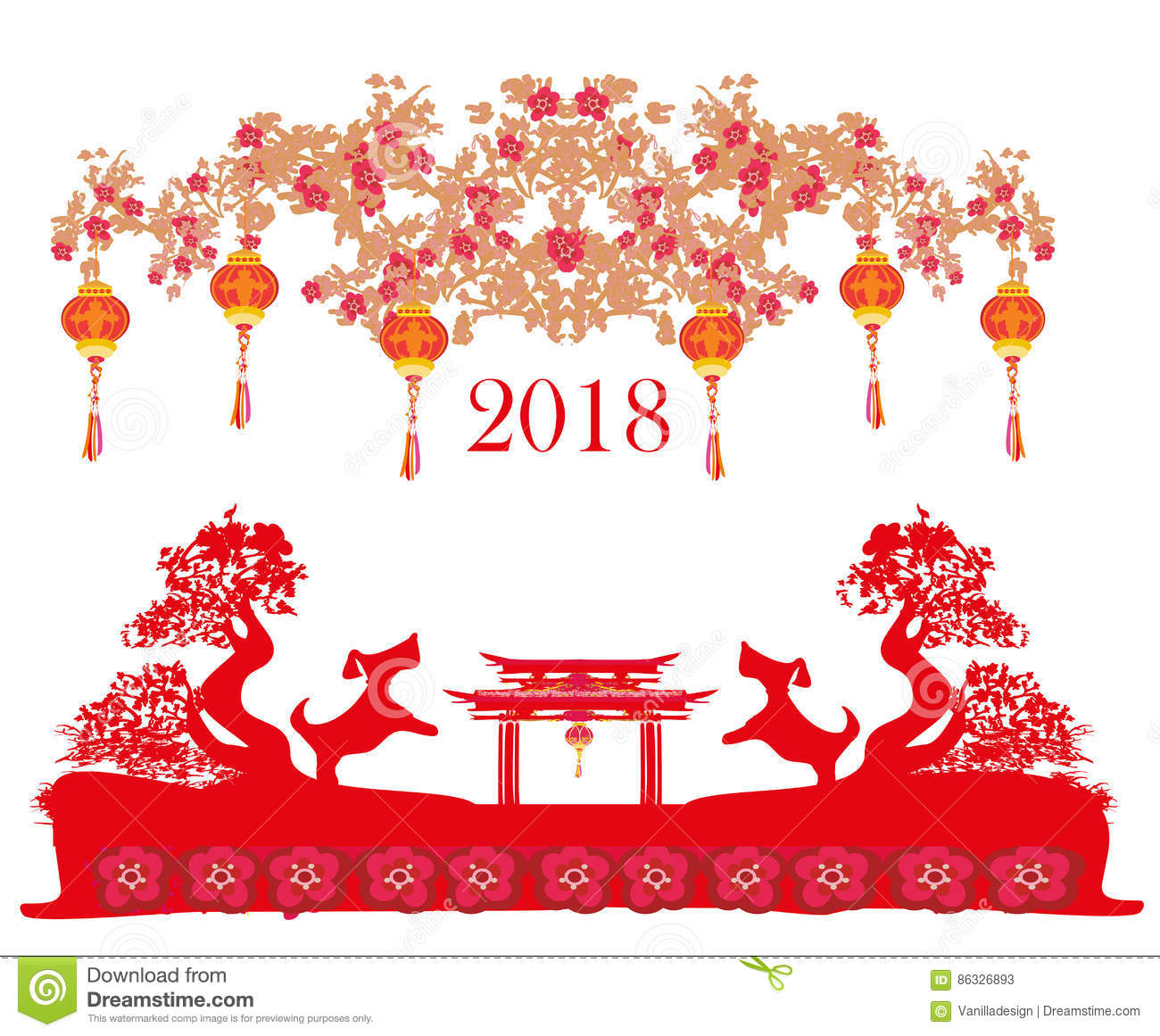 Chinese New Year 2018 Free Clipart.