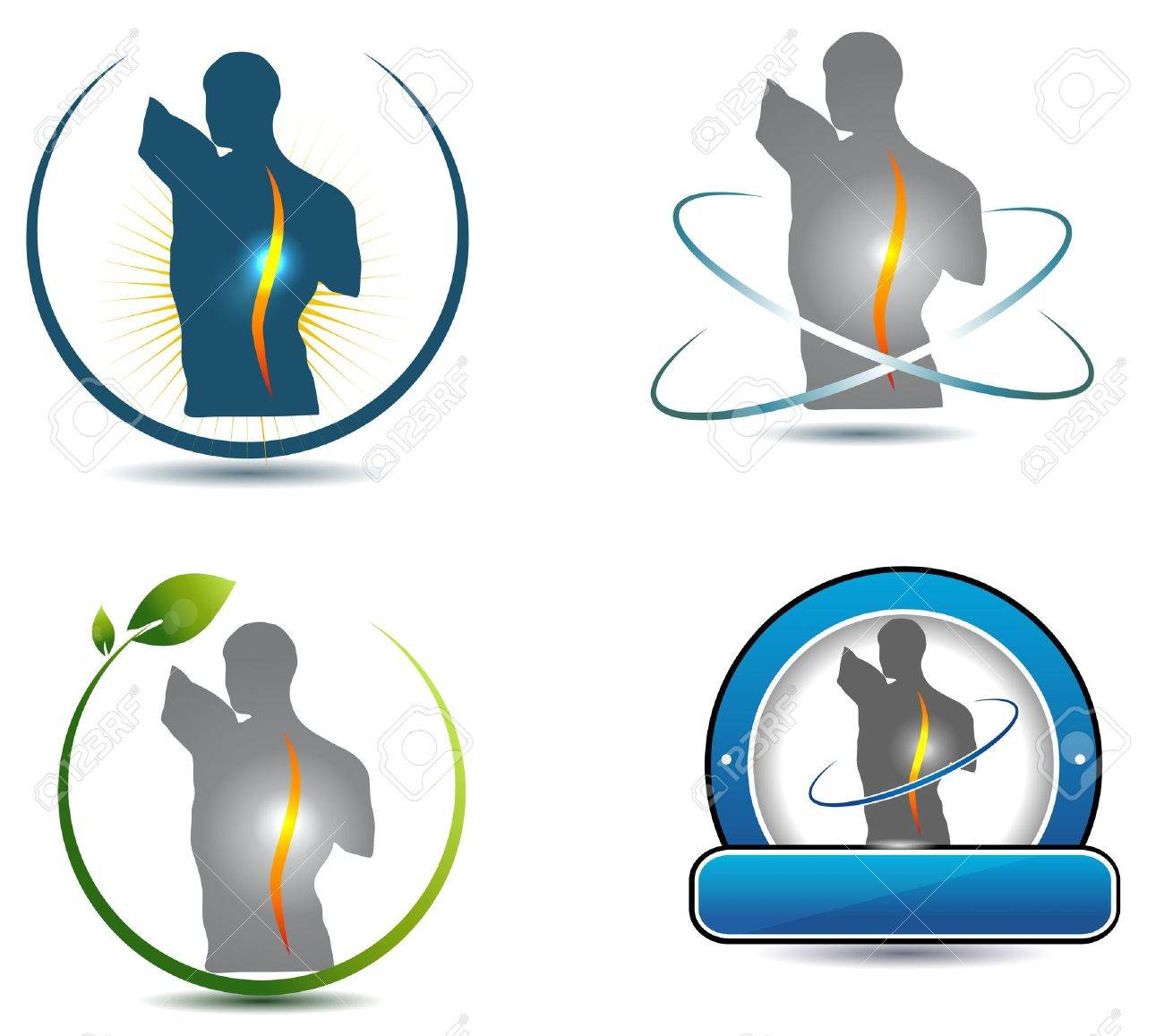 Healthy spine symbol Can be used in chiropractic, sports, massage...