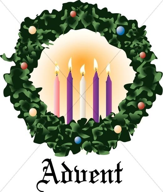 Advent Wreath Christmas Religious Clipart.