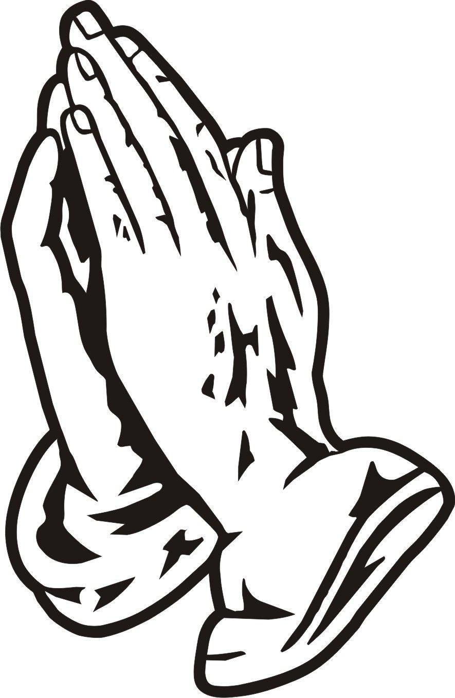 Black Praying Hands Clipart.