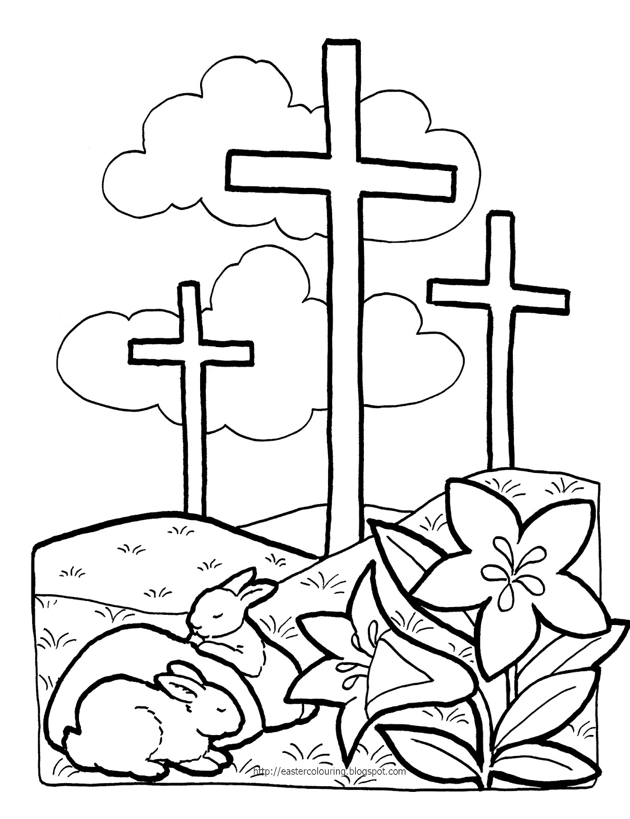 Easter Printable Clipart For Kids.