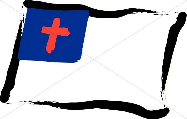 Christian Flag Clipart, Christian Flag Image, Christian Flag.