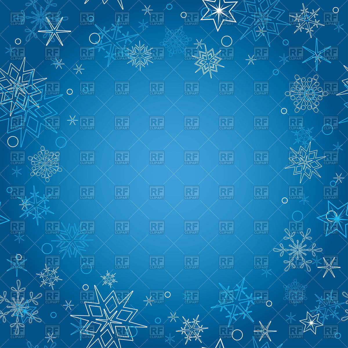 Blue christmas background with snowflakes Stock Vector Image.