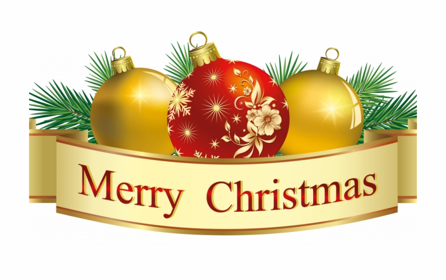 Merry Christmas Decorative Banner With Image Free Of.