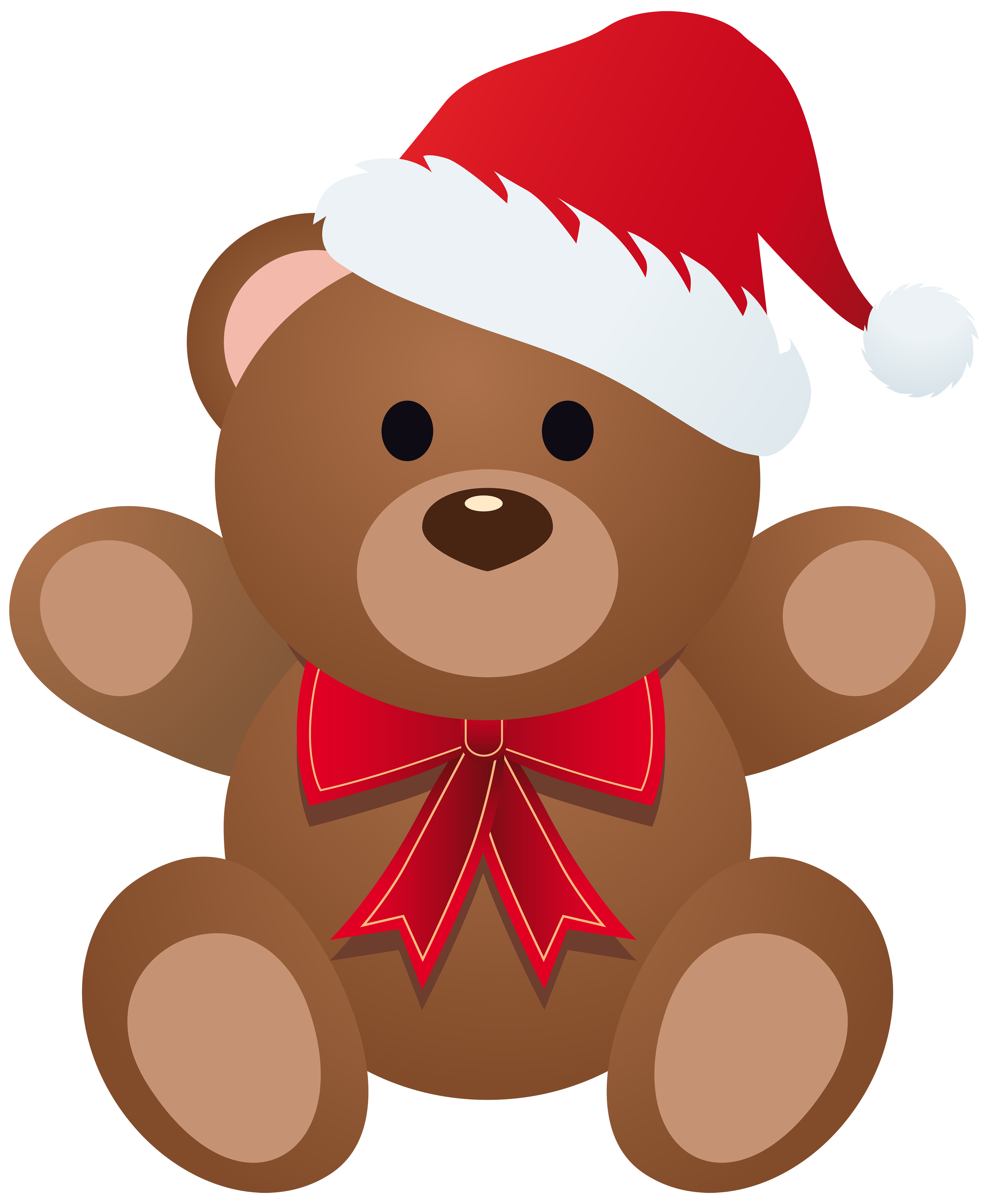 Christmas Teddy PNG Clipart Image.