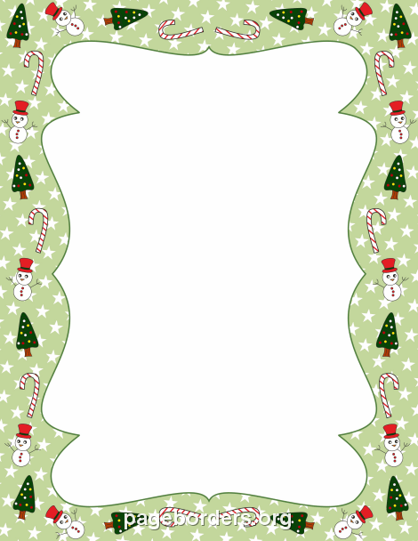 Christmas Border: Clip Art, Page Border, and Vector Graphics.