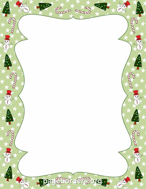 Christmas Border: Clip Art, Page Border, and Vector Graphics.