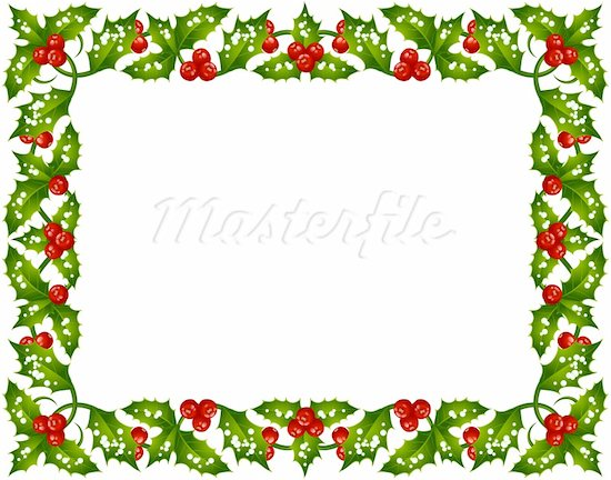 2703 Christmas Border free clipart.