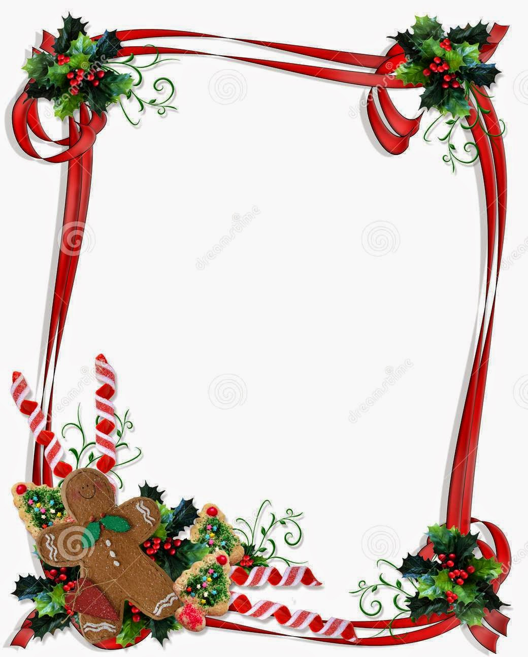 Free Christmas Border Frame Clipart.