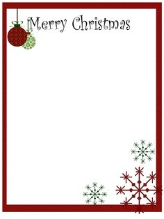 Free Christmas Borders And Frames Clip Art.