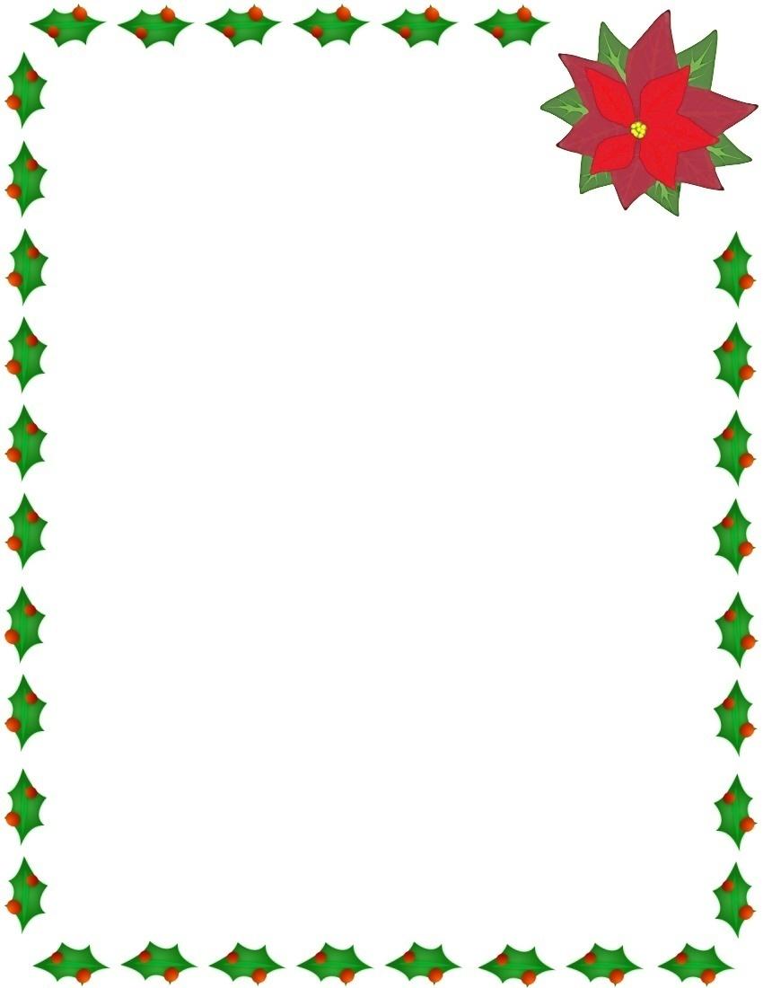 Free Christmas Frame Border Clipart.