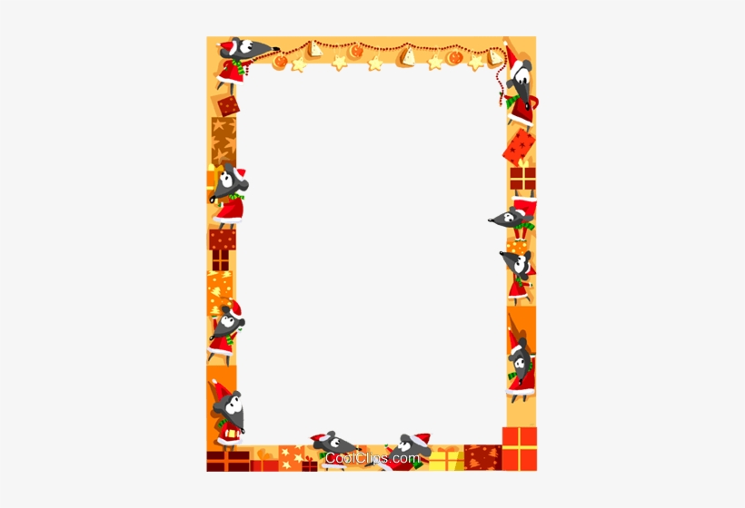 Christmas Themed Frame Royalty Free Vector Clip Art.