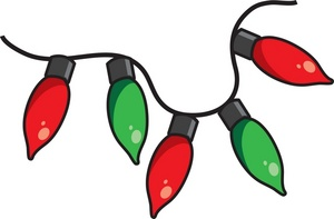 Red And Green Christmas Lights Clipart.