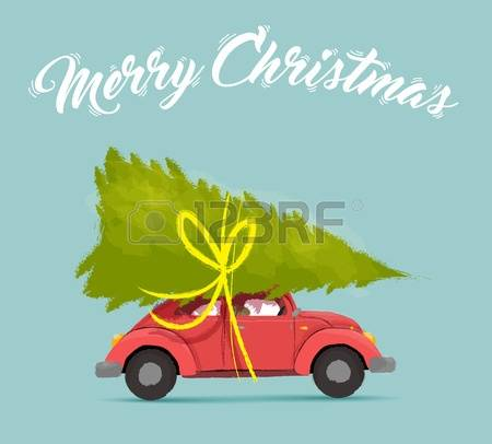 2,899 Christmas Car Stock Vector Illustration And Royalty Free.