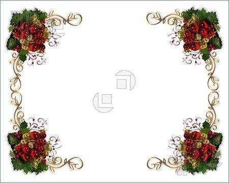 christmas card borders4 Free Downloadable Christmas Page Borders.