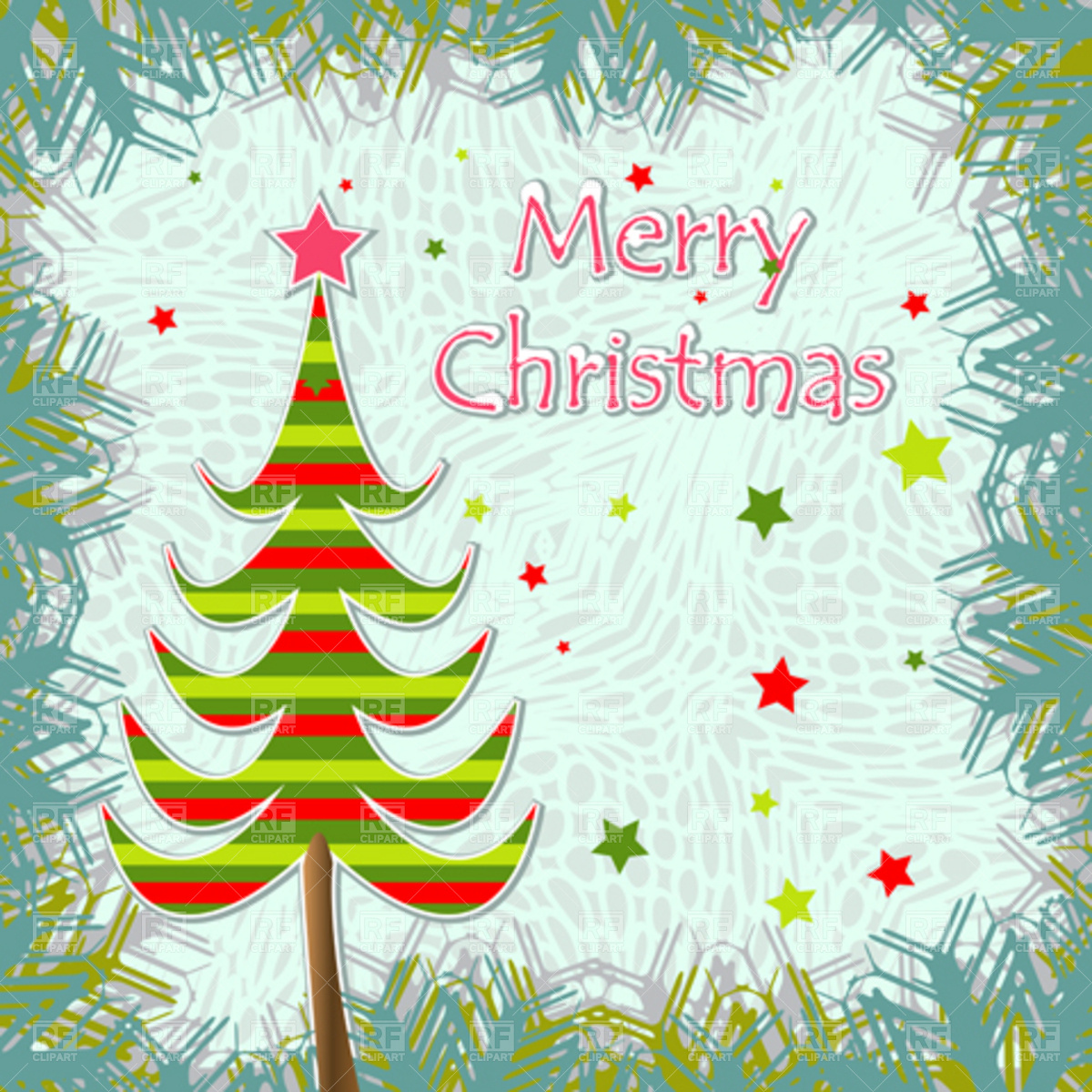 Template of christmas greeting card Stock Vector Image.