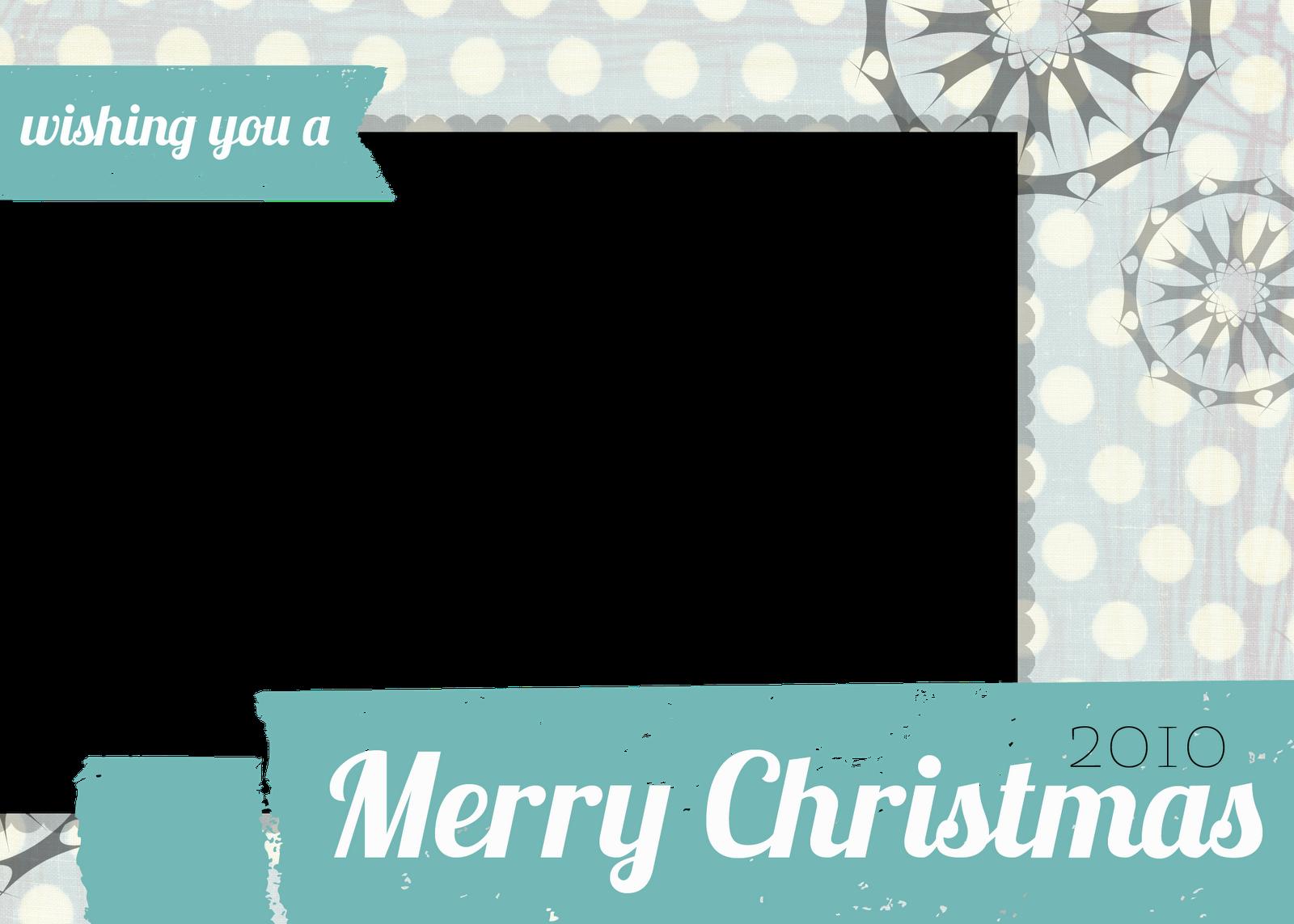 Free Christmas Photo Card Templates.