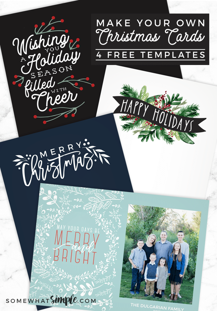 Make Your Own Photo Christmas Cards (for FREE!).