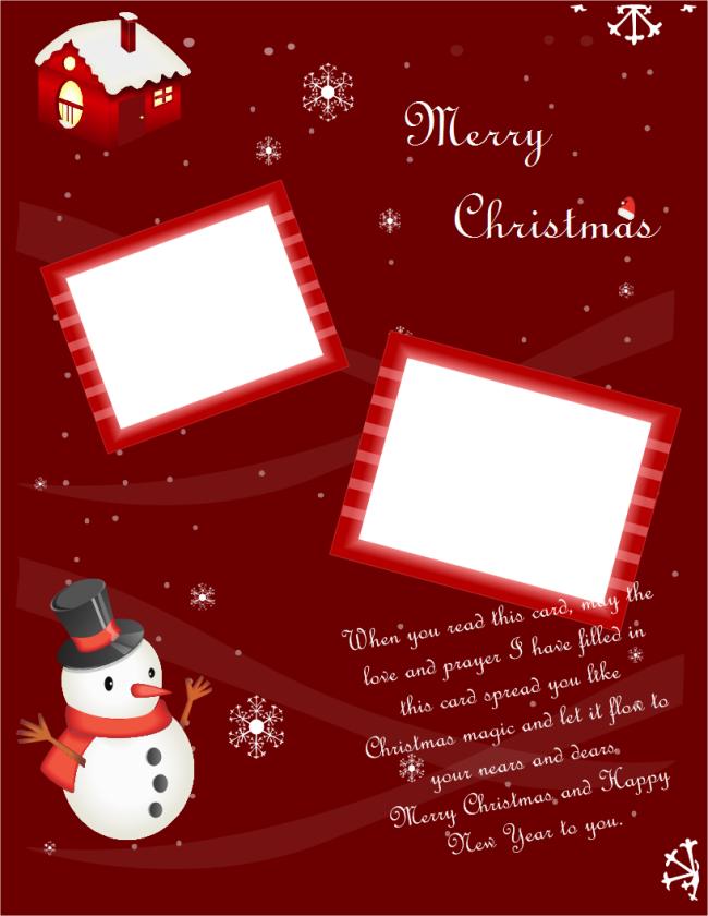 Portrait Christmas Card.