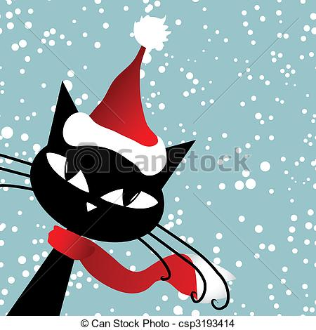Cat Clipart Christmas.