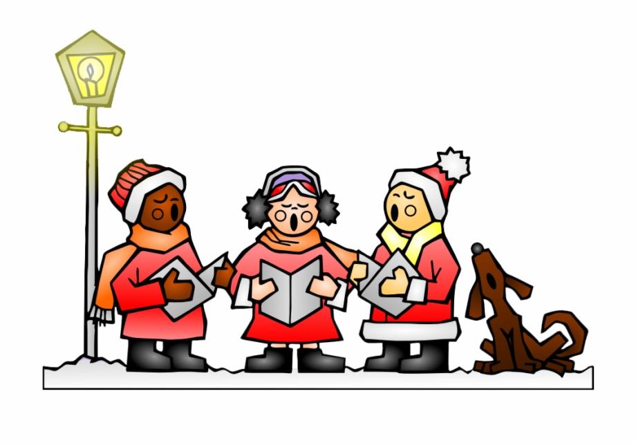 Singing Christmas Carols Clipart.