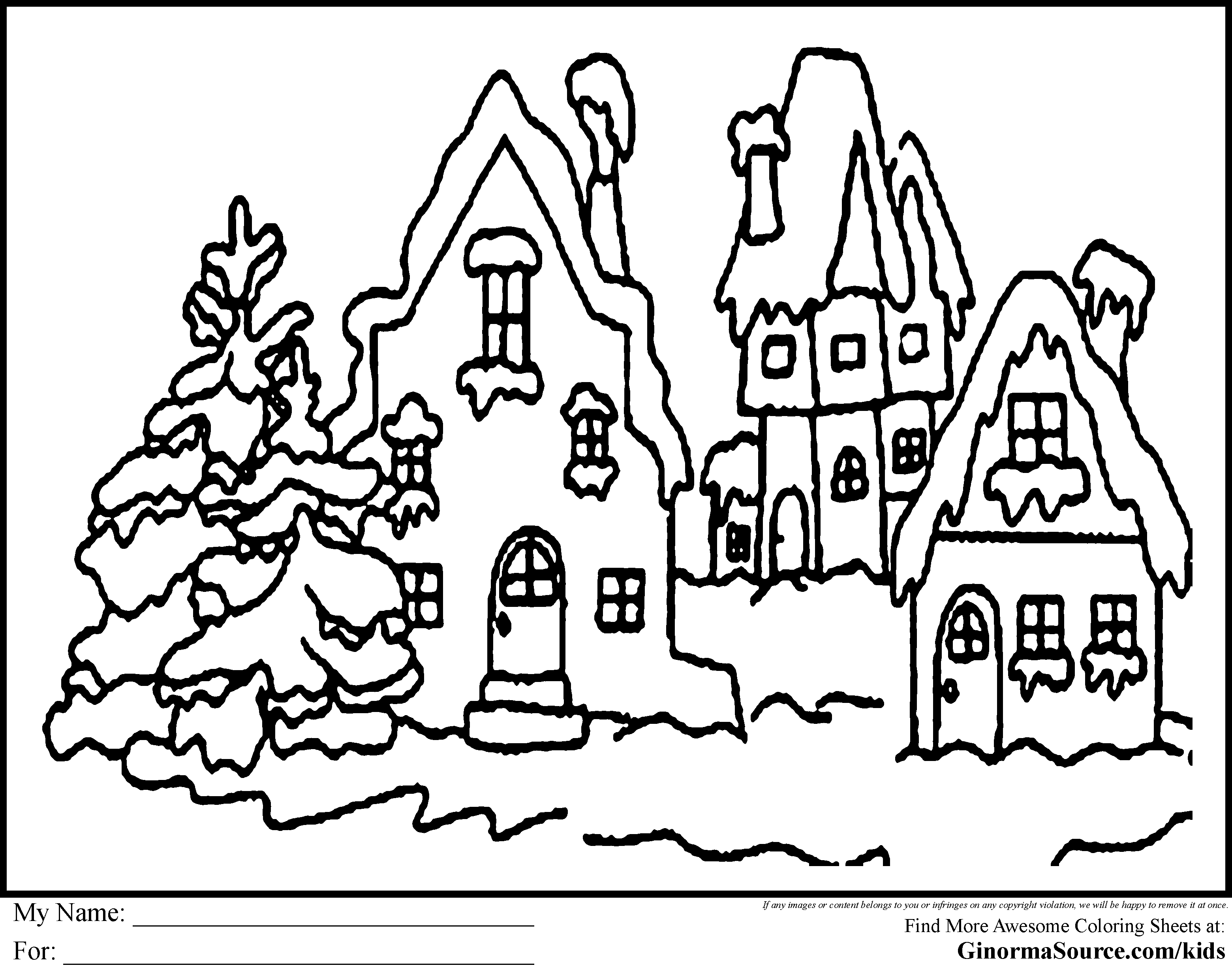 Christmas Coloring Borders Pages