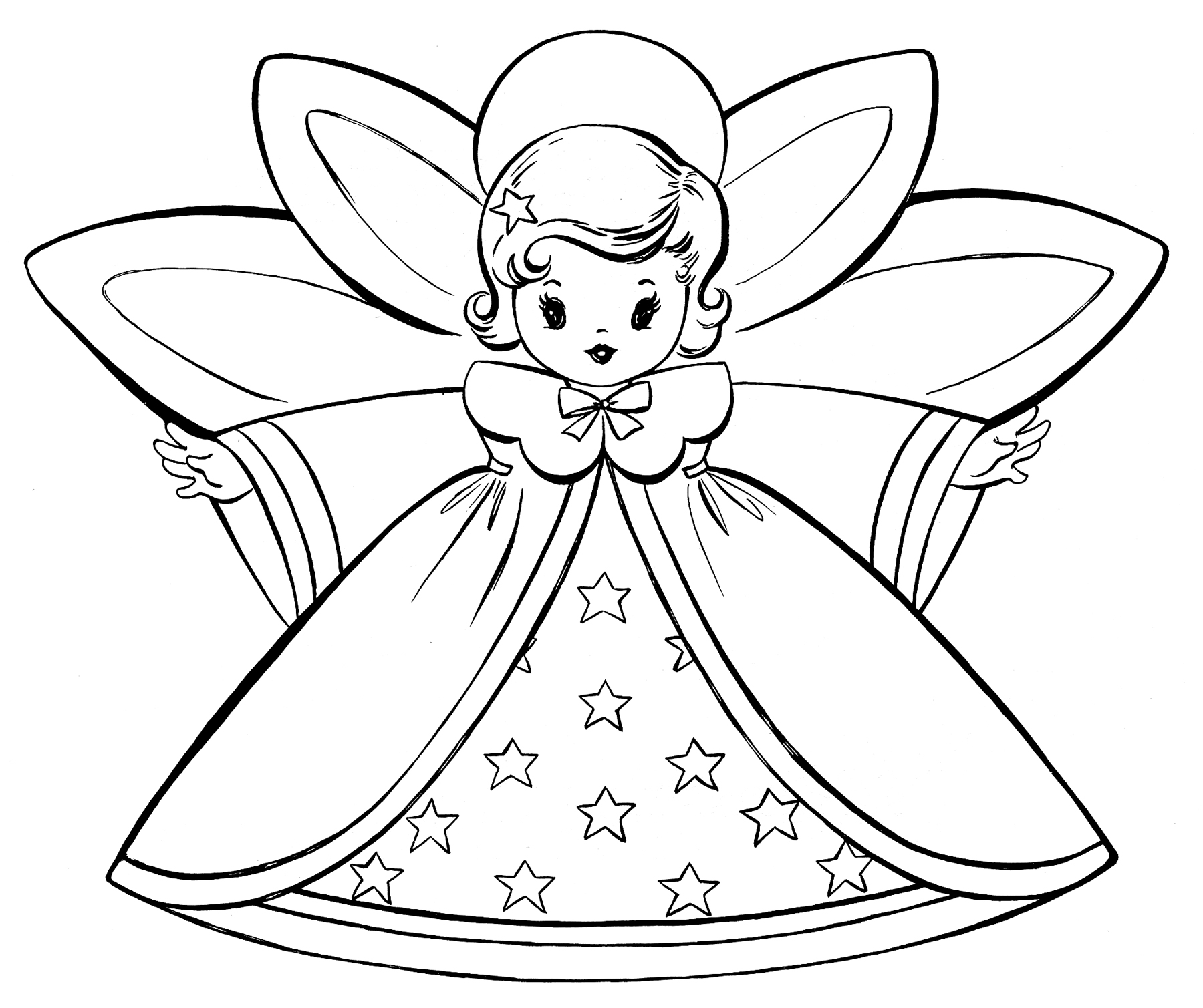 Free Christmas Coloring Pages.