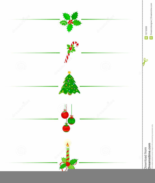 Free Christmas Clipart Page Dividers.