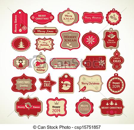Free Clipart Christmas Labels.