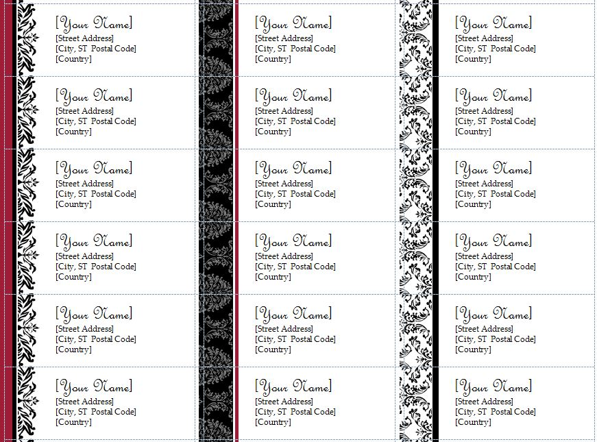 christmas return address label templates
