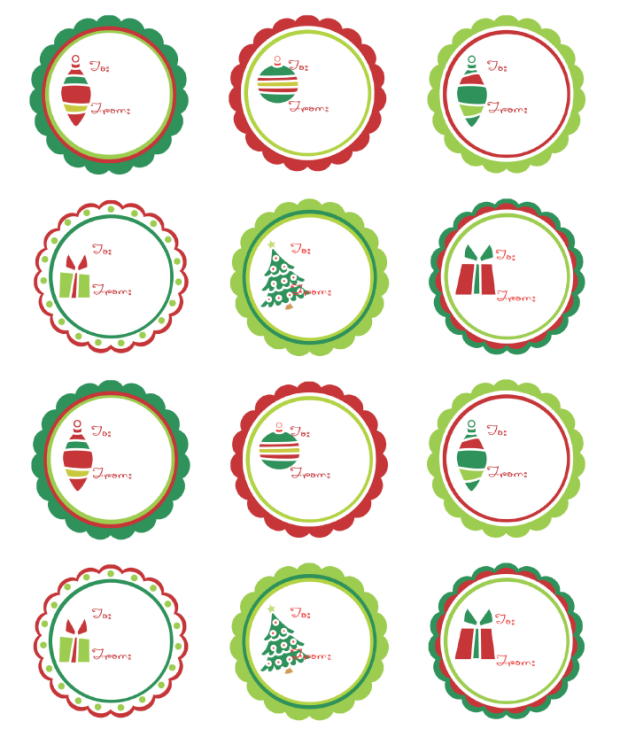 Christmas Labels Ready to Print!.