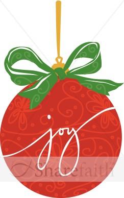 Red JOY Christmas Ornament.