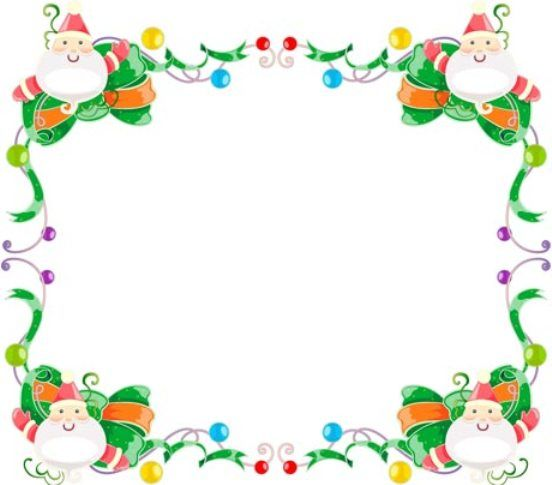 free christmas clip art photo frames - Clipground