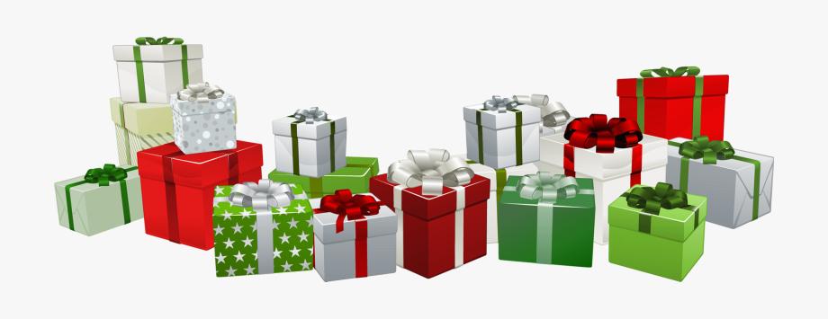 Gift Claus Transparent Presents Santa Christmas Clipart.