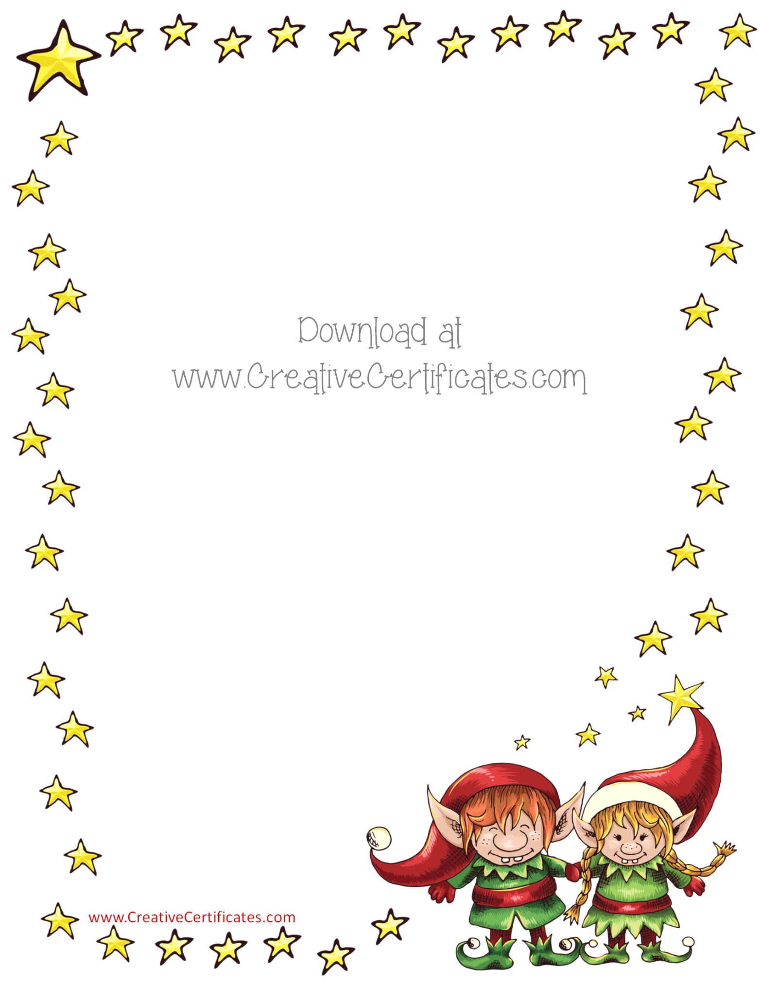 Christmas 1 Free Stationery Com Template Downloads (free Holiday.