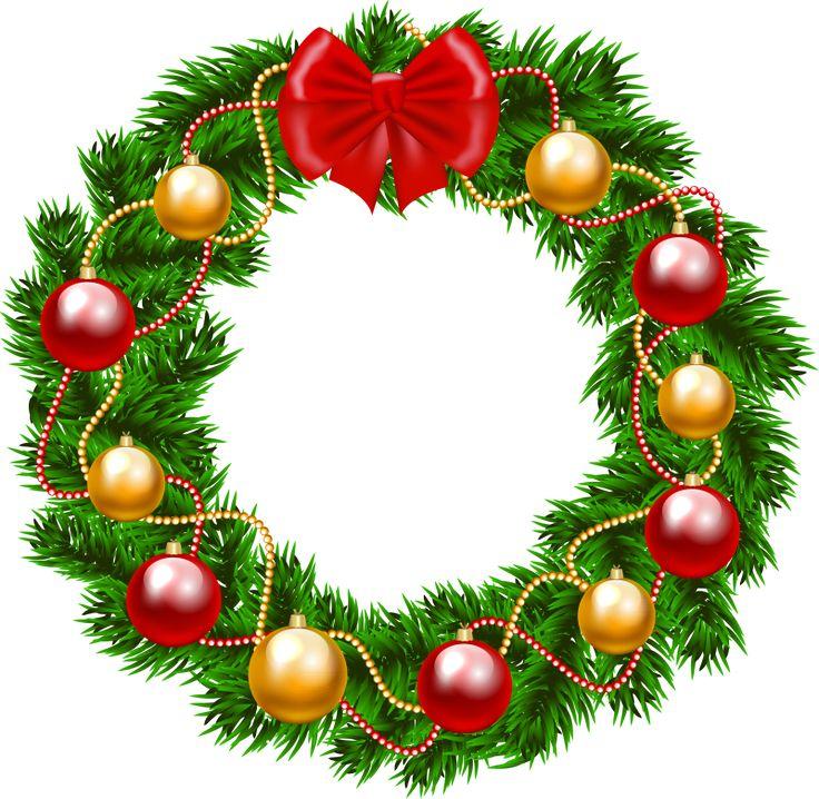 Free Christmas Wreath Clipart.