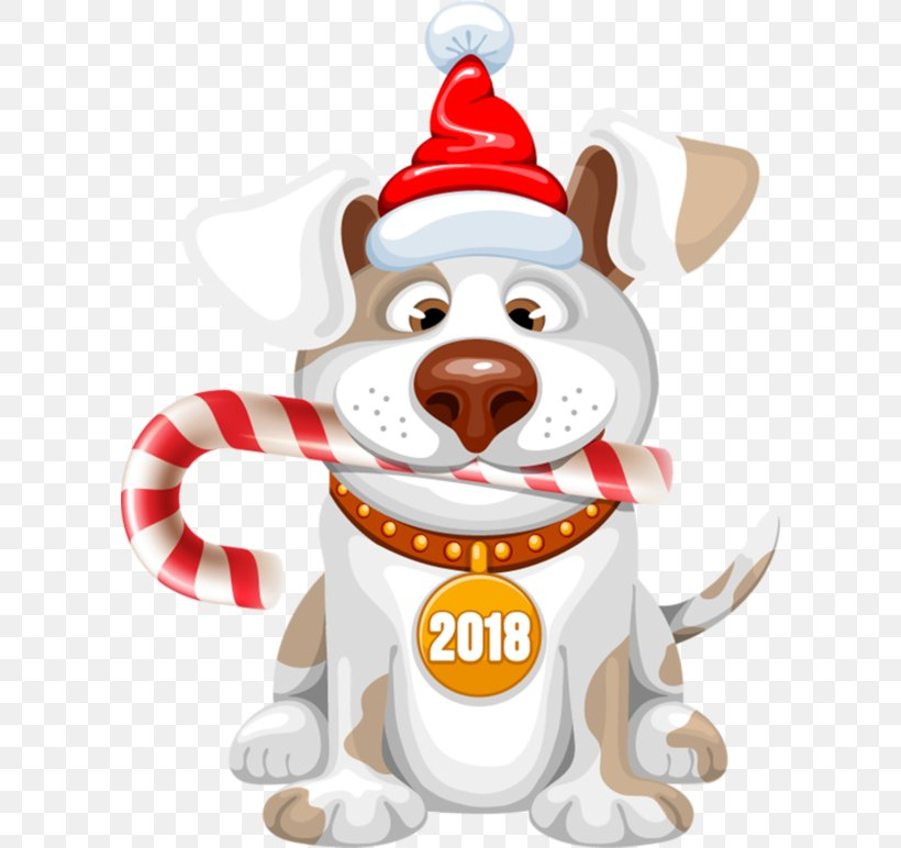 Dog New Year Christmas Clip Art, PNG, 600x772px, 2018, Dog.